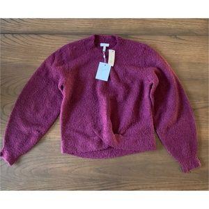 Joie Stavan Metallic Detail Crewneck Sweater Sz S